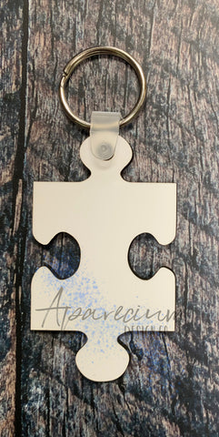 Puzzle Piece Keychain Sublimation Blanks
