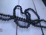 Matte Black Beaded Glass Necklace Sublimation Kit
