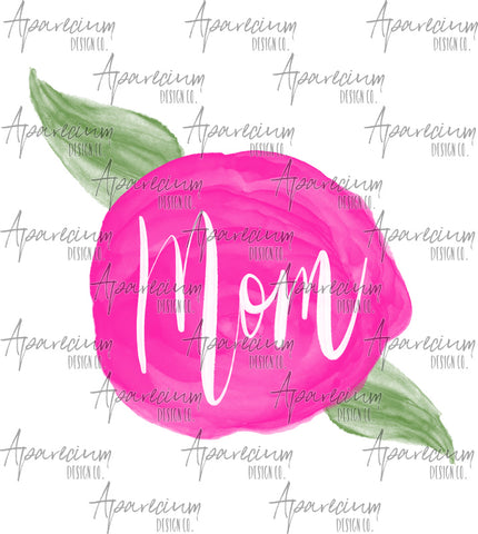 Pink Floral Mom Sublimation Design
