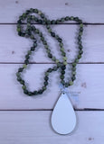 Olive Green Natural Stone Necklace Sublimation Kit