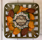 Fall Farmhouse Tobacco Basket and Wreath Sublimation Kit
