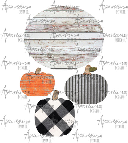 Pumpkin Centerpiece Fall Sublimation Design