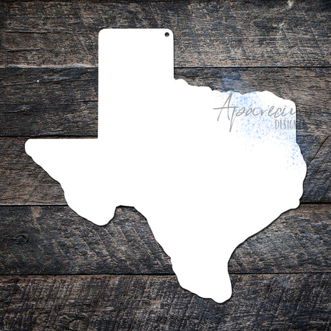 State of Texas Sublimation Hardboard Blank