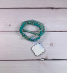 Turquoise Beaded Bracelet Sublimation Kit
