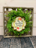 Flat Farmhouse Tobacco Basket and Wreath Sublimation Kit