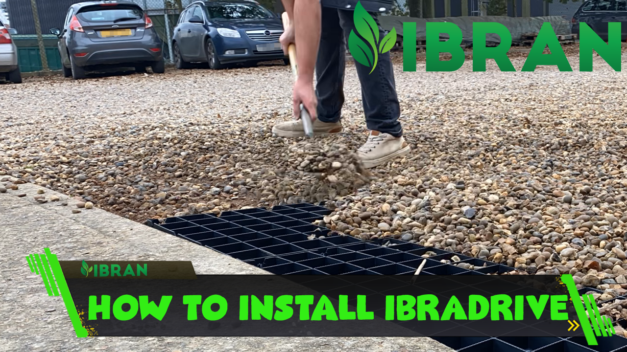 How to install gravel parking grids for driveways, parking lots and pathways