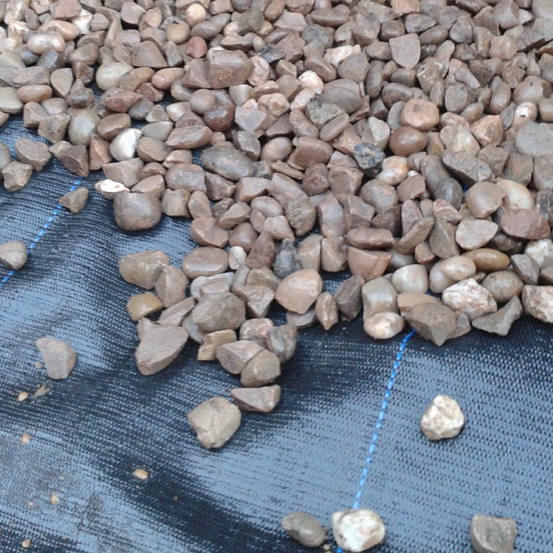 Ground cover membrane for under gravel