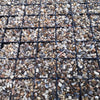 Gravel parking grids with stone fill