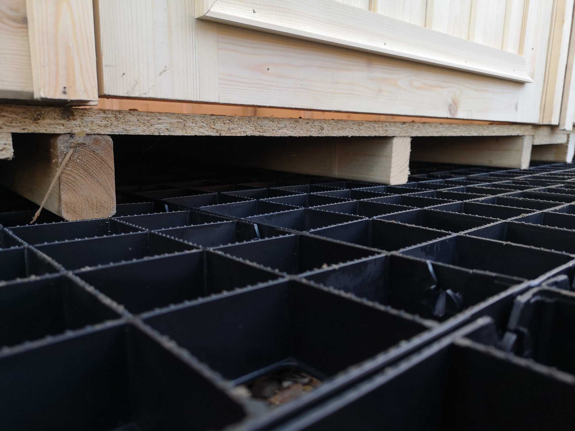 Plastic Shed Base Grids