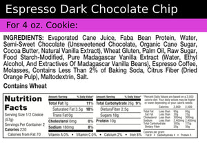 Cookie+ Protein Espresso Dark Chocolate - Cookie+ Protein