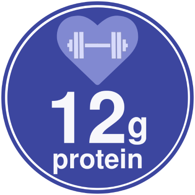 12g of Protein in Brownie+ Protein