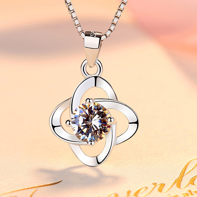 REAL SOLID SILVER 925 Classic Sterling Silver Necklace & Pendant Flower-080