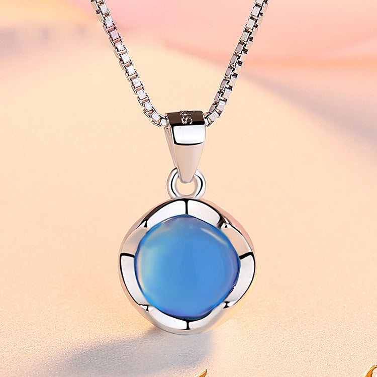 REAL SOLID SILVER 925 Classic Sterling Silver Necklace & Pendant Accent-094