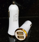 ( 2 USB Ports ) USB-A Car Charger adapter (10W / 2A)