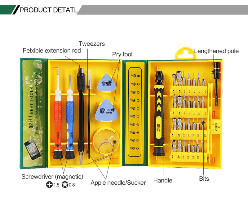 38pcs Universal Repair Tool Kit Mobile Phone Repairing Tools
