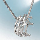 REAL SOLID SILVER 925 Classic Sterling Silver Necklace & Pendant Crown-031