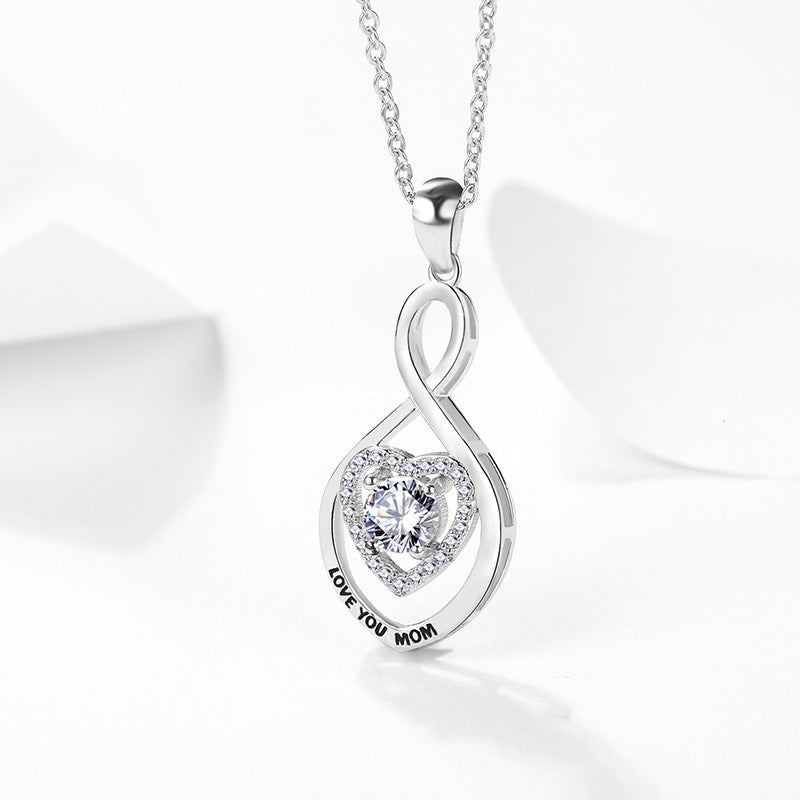 REAL SOLID SILVER 925 Classic Sterling Silver Necklace & Pendant Heart-073