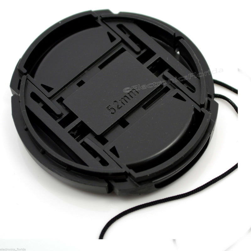 67mm Lens Cap center pinch snap on Front Cover string for Canon Nikon Sony -e227