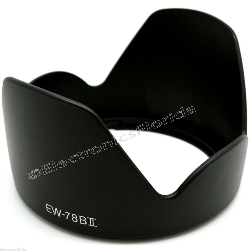 EW-78BII Lens Hood replacement for Canon EF 28-135mm f/3.5-5.6 IS USM e83