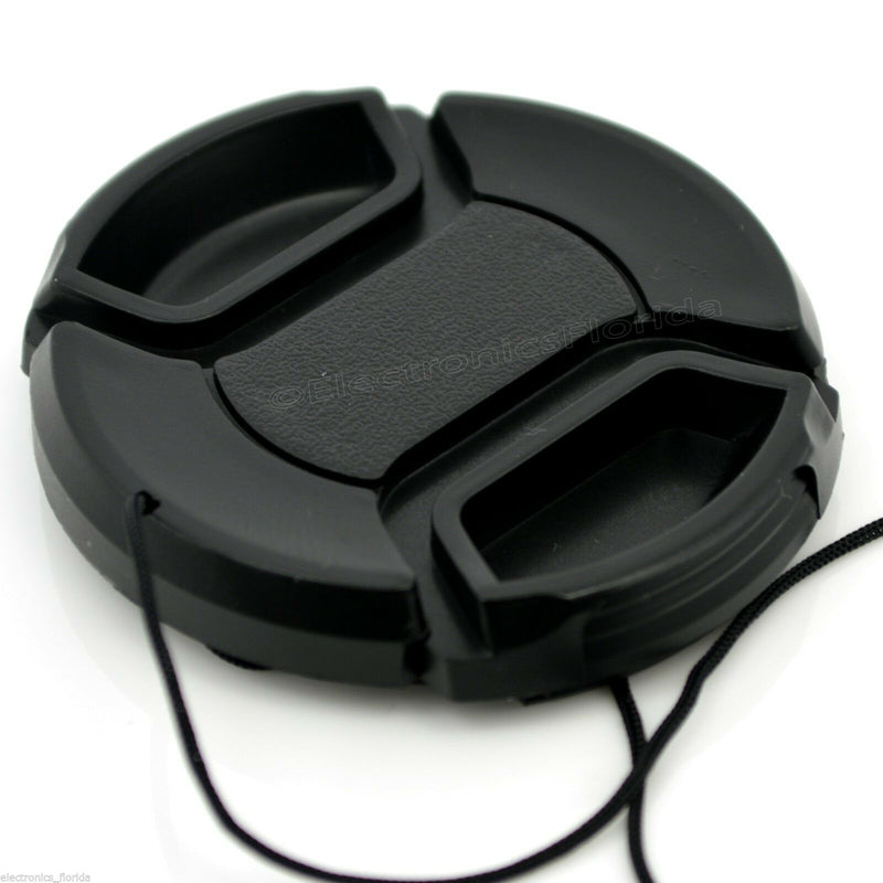 52mm Lens Cap center pinch snap on Front Cover string for Canon Nikon Sony -e160