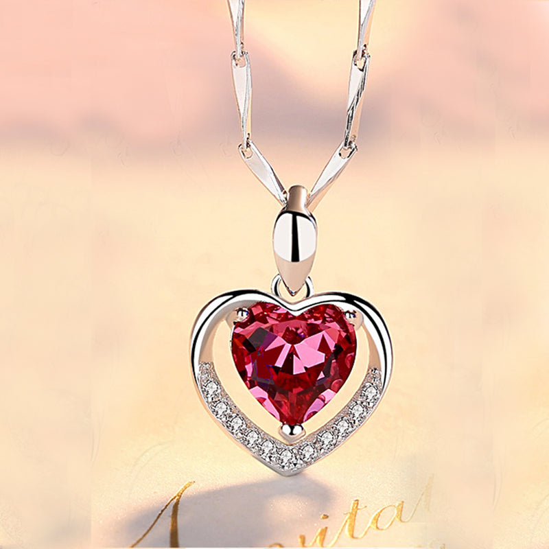 REAL SOLID SILVER 925 Classic Sterling Silver Necklace & Pendant Heart-077