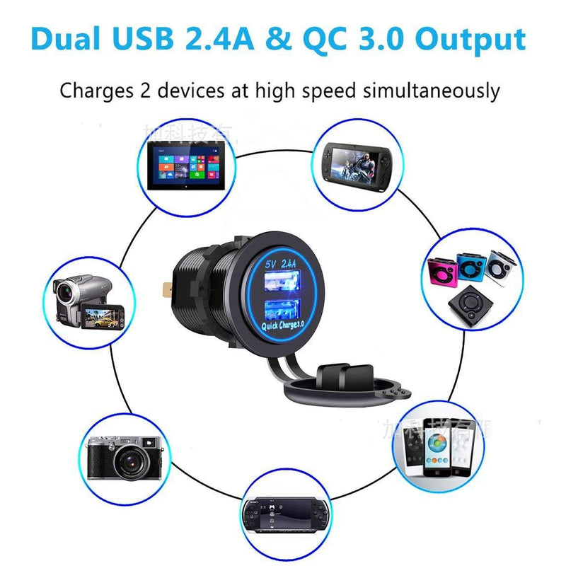 Fast Charge ( 2 USB Ports ) Car Charger Adapter (16W / 5,9,12V / 3.1A)