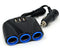 3 Way USB Car Charger,12V Power Adapter Plug,Cigarette Lighter Socket Splitter