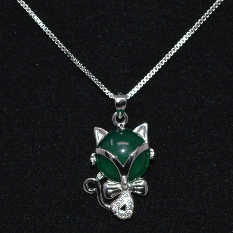 REAL SOLID SILVER 925 Classic Sterling Silver Necklace & Pendant Cat-003