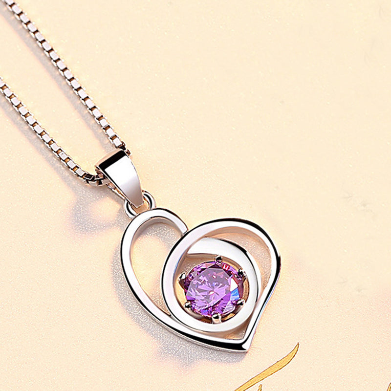 REAL SOLID SILVER 925 Classic Sterling Silver Necklace & Pendant Heart-050