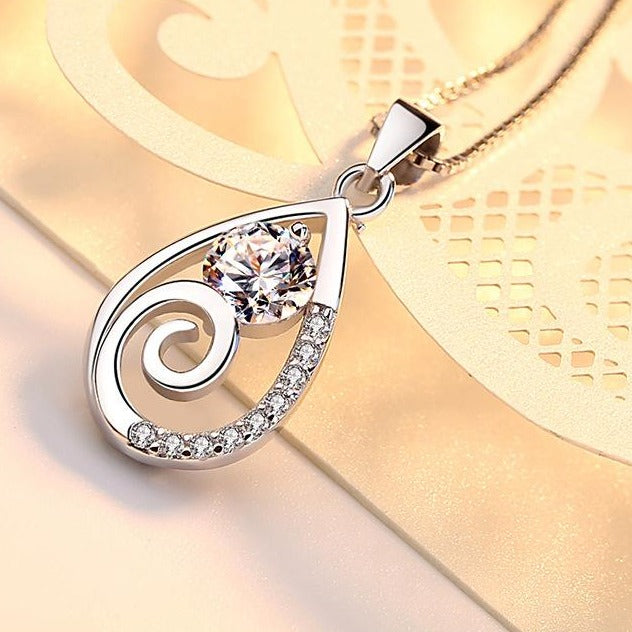 REAL SOLID SILVER 925 Classic Sterling Silver Necklace & Pendant Teardrop-043