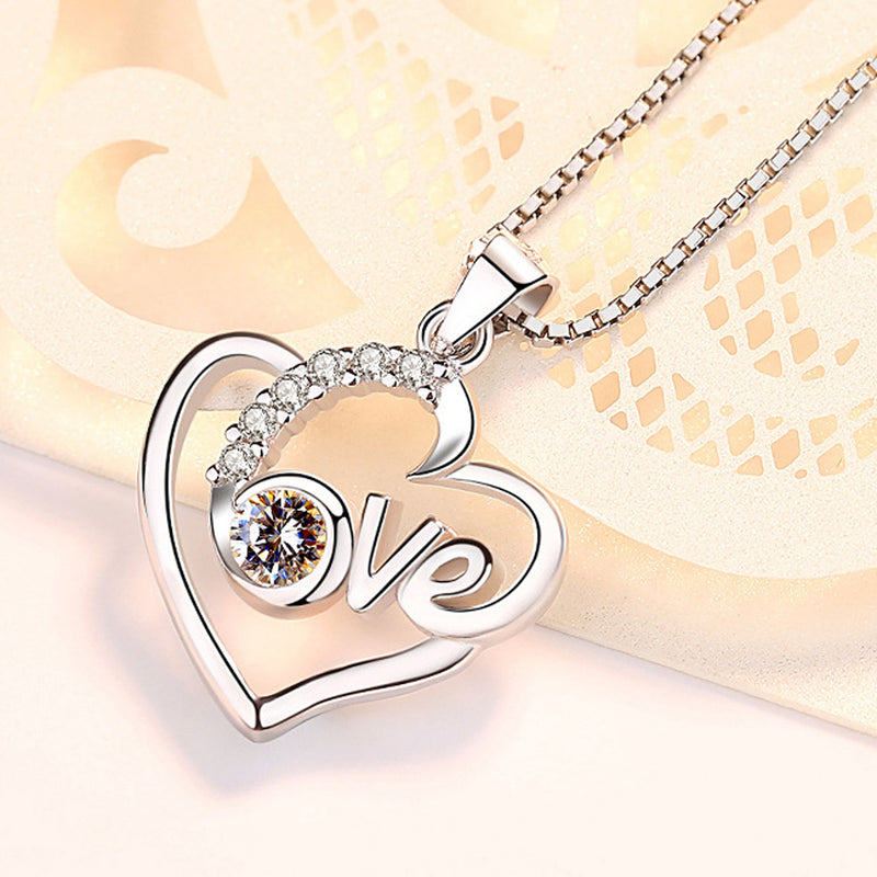 REAL SOLID SILVER 925 Classic Sterling Silver Necklace & Pendant Heart-053