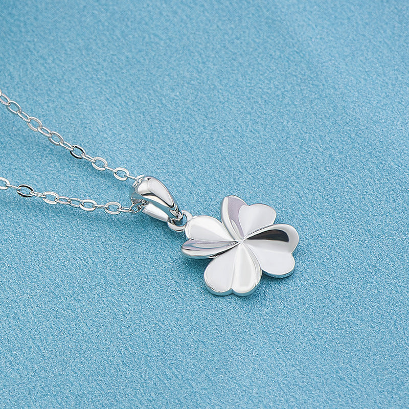 REAL SOLID SILVER 925 Classic Sterling Silver Necklace & Pendant Clover-084