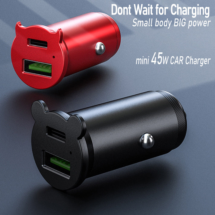37W Dual with USB Type-C Fast Quick Car Charge PD/QC 4