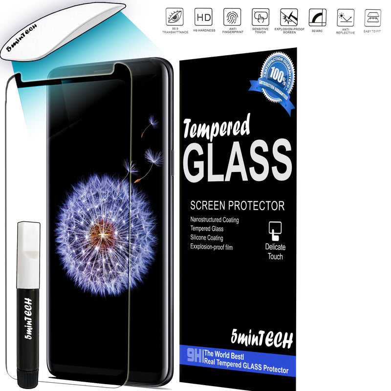 UV Glue Tempered Glass Liquid Screen Protector For Samsung galaxy phones (ultraviolet Glue)