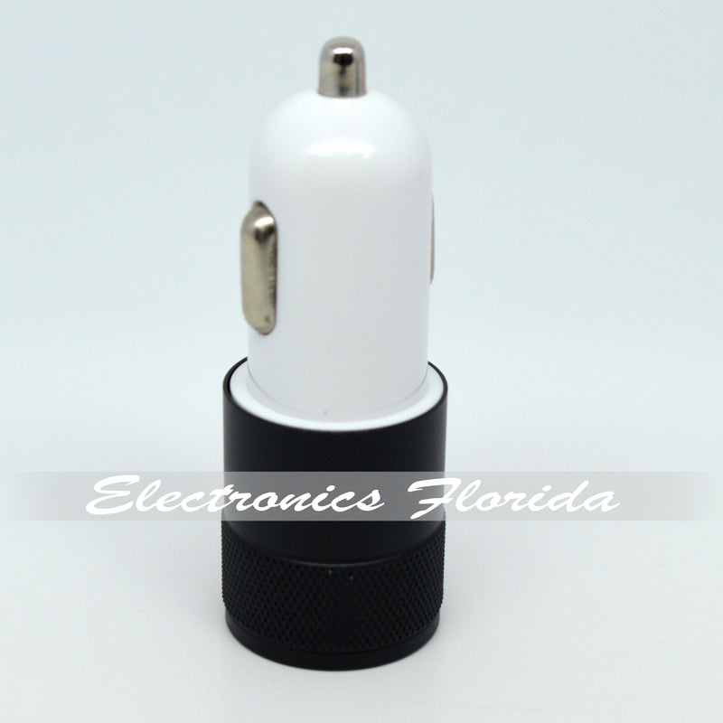 ( 2 USB Ports ) Metal USB-A Car Charger adapter (10W / 2A)
