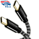 Super Speed USB V3.1 (3ft/6ft) (USB C to USB C) Cable Type C Nylon Braided