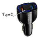 Fast Charge Car Charger with 2 (USB-A) & 1 (Type-C) Ports  (18W / 3.5A)