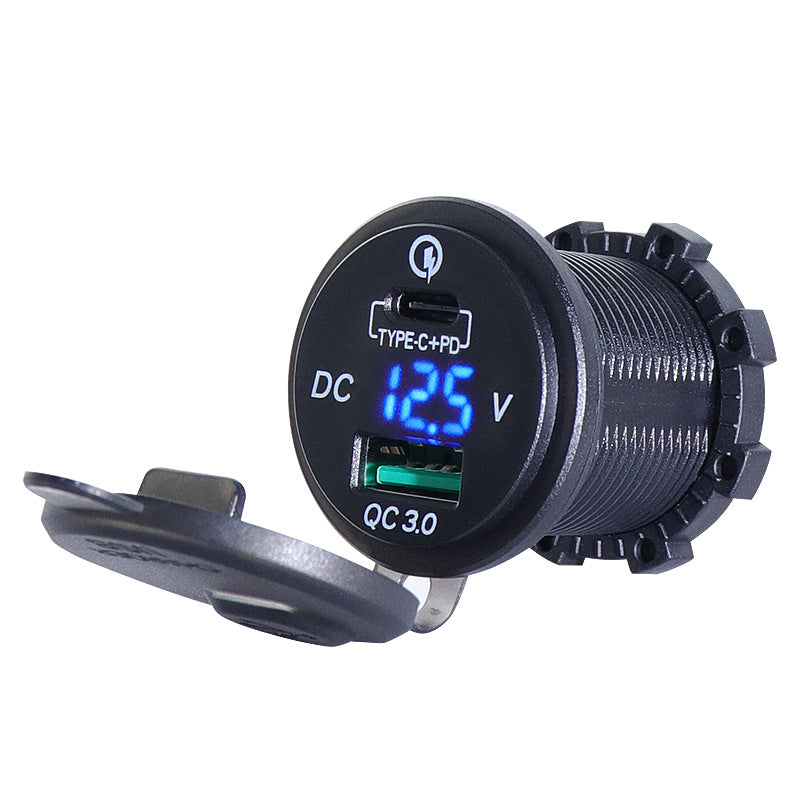 Fast USB Charger With Type C connector For Car Boat/Motorcycle/Golf Cart