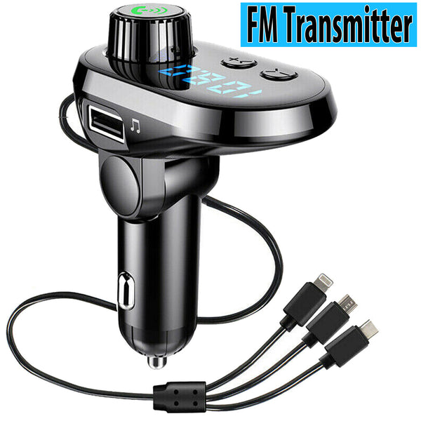 Wireless Bluetooth Car FM Transmitter MP3 Player Adapter Kit USB Charger