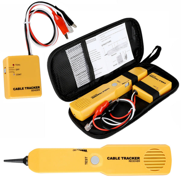 Network RJ11 Line Finder Cable Tracker Tester Sender Wire Tracer+Tool Bag Pouch