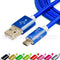 Nylon Braided (1ft/3ft/6ft/10ft/15ft) USB 2.0 (Micro USB to USB) Data & Sync Charging Cable
