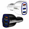 Fast Charge ( 3 USB Ports ) USB- Type A Car Charger (18W / 3.5A)