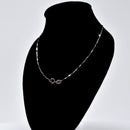 REAL SOLID SILVER (Width1.4mm) Classic 925 Sterling Silver Chain Necklace Jewelry (MelonStyle)