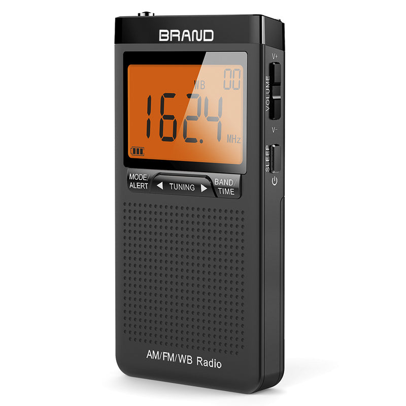 AM FM Radio Battery Operated Radio Portable Pocket Auto-Search Emergency
