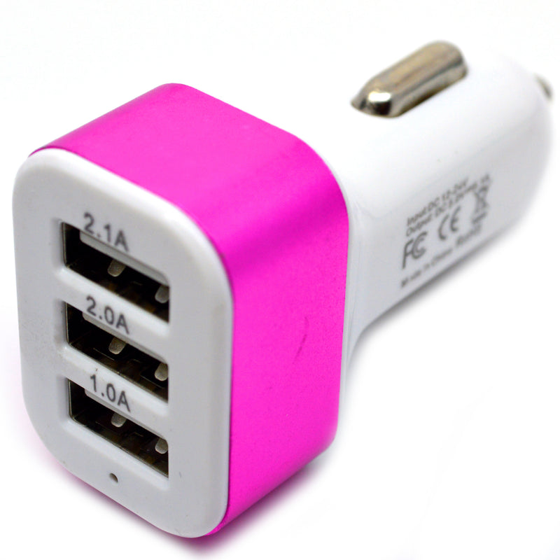 ( 3 USB Ports ) USB-A Car Charger adapter (7W / 1.5A)