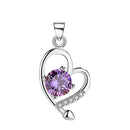 REAL SOLID SILVER 925 Classic Sterling Silver Necklace & Pendant Heart-072