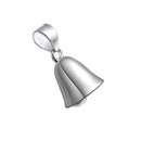 REAL SOLID SILVER 925 Classic Sterling Silver Necklace & Pendant Bell-019