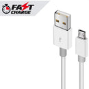 FAST CHARGING -  (Micro USB to USB-A) (3ft) PVC  Cable USB 2.0