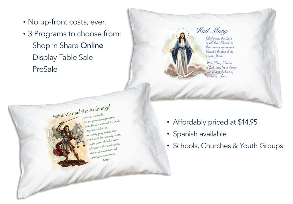Catholic Online Fundraiser with Prayer Pillowcases