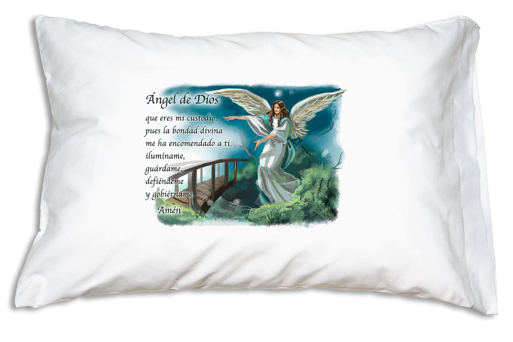 The Angel de Dios (Angel of God) Prayer Pillowcase reminds us to pray to our Guardian Angels.